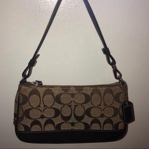Small signature coach purse brown and tan